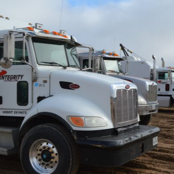 Part of the wireline truck fleet