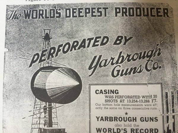 An advertisement by Yarbrough Guns Co. for their perforating gun.